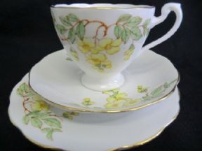 Roslyn china Art Deco period tea trio